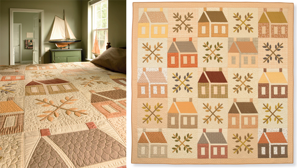 Faded Homesteads on the Prairie quilt