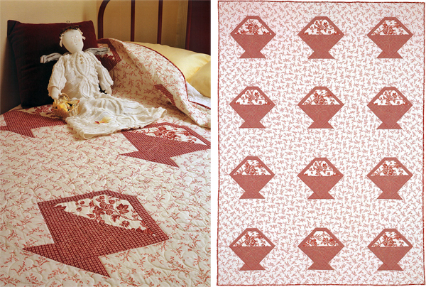 Red and White Baskets quilt