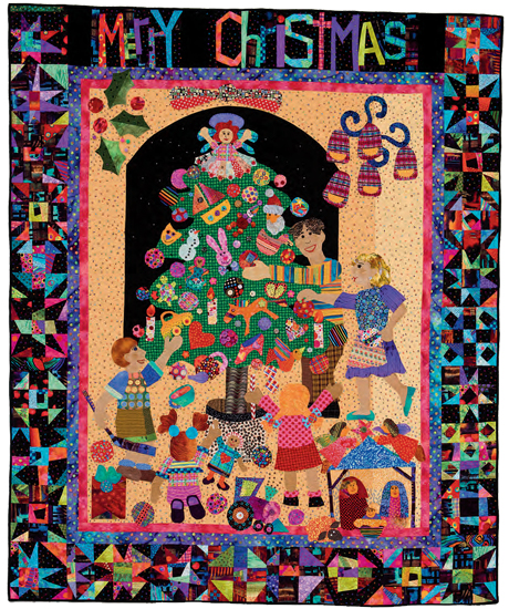 Christmas Quilt by Mary Lou Weidman