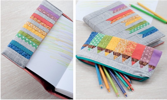 Artist's Sketchbook Cover and Pencil Pouch from Sew Gifts!