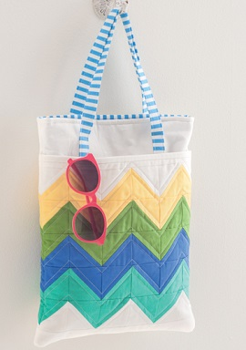 Chevron Tote Bag from Sew Gifts!