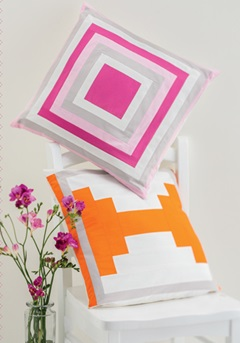 Color Punch Pillows from Sew Gifts