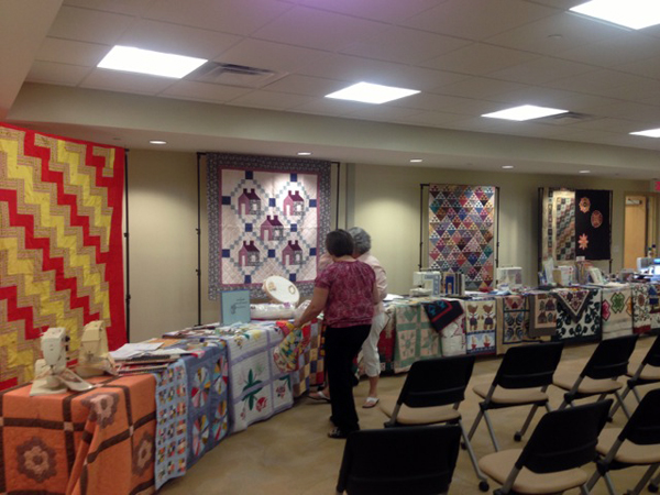 Setting up for quilting history
