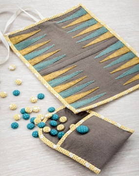Travel Backgammon Set from Sew Gifts!