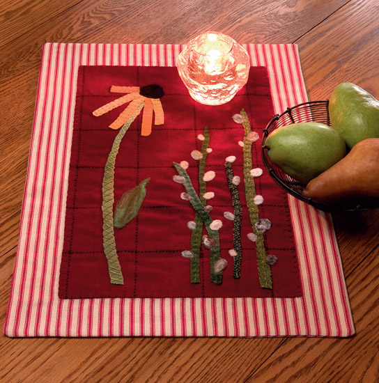 Spring Friends Candle Rest from Needle Felting