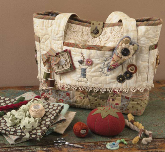 Vintage-Inspired Sewing Tote