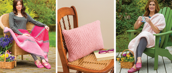 Crochet Pink--blankets and pillows