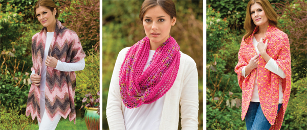 Crochet Pink--shawls and scarves