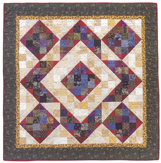 Perkiomen Valley Nine Patch quilt - alternate design