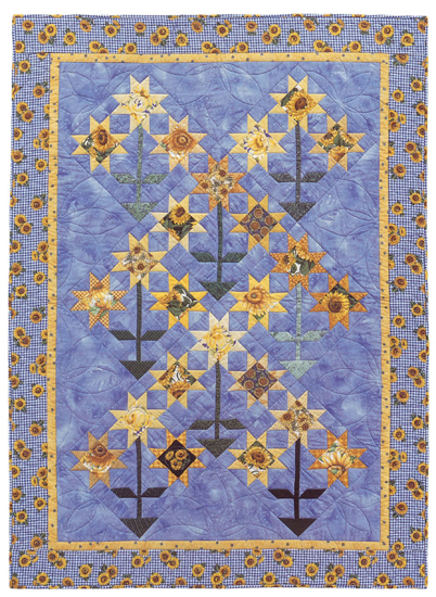 Sunflowers/Morning Glories quilt