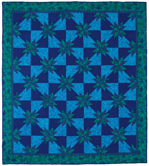Twinkling Hunter's Star quilt