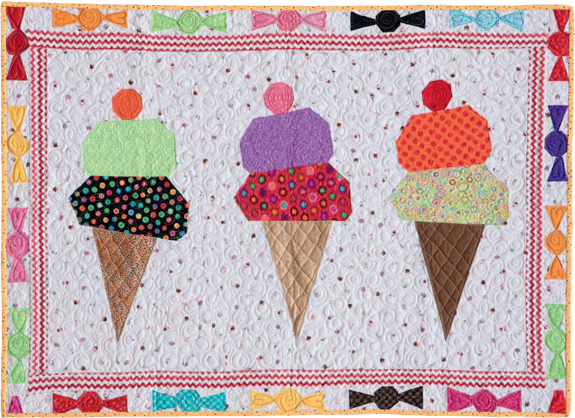 Step-by-step project: Ice-Cream Cones quilt