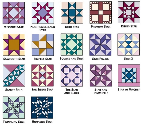 Star quilt-block patterns for an astronomical block challenge ... : star block quilt pattern - Adamdwight.com