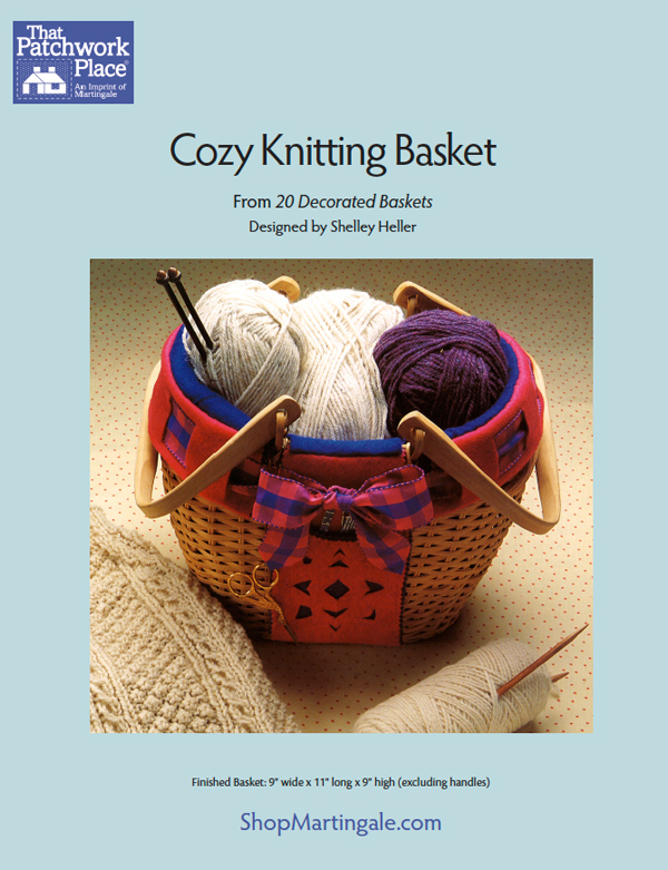 Cozy Knitting Basket free pattern