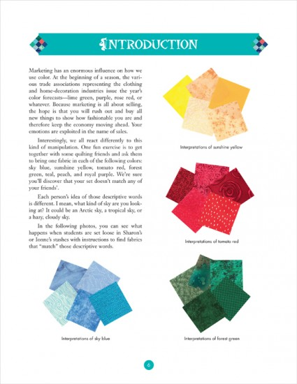 Partial introduction from Color for the Terrified Quilter