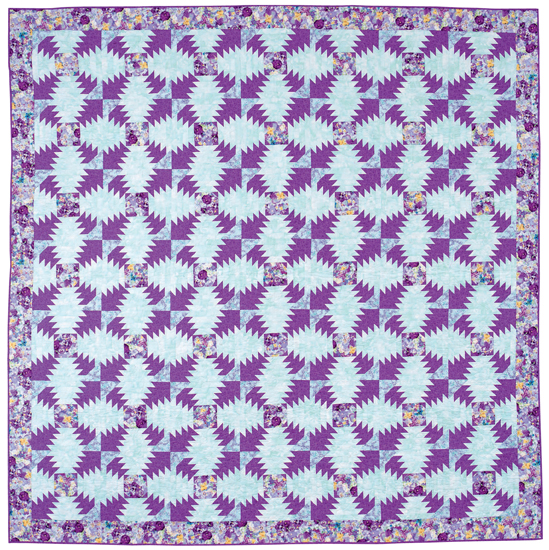 Purple Passion Pineapple quilt by Jo Parrott