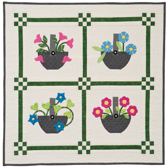 Gathered from the Garden quilt by Cindy Lammon