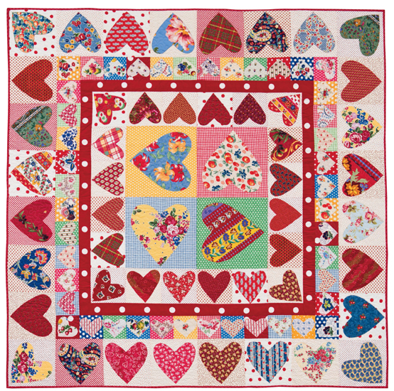 Be Mine quilt by Sandy Klop