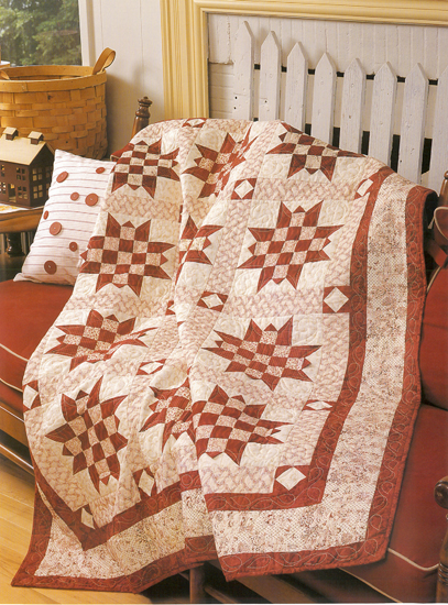 Big Red Checkerboard Star quilt