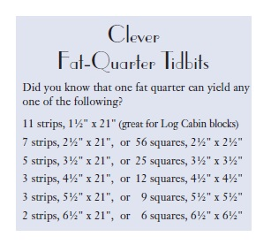 Fat Quarter Yields - from Clever Quarters
