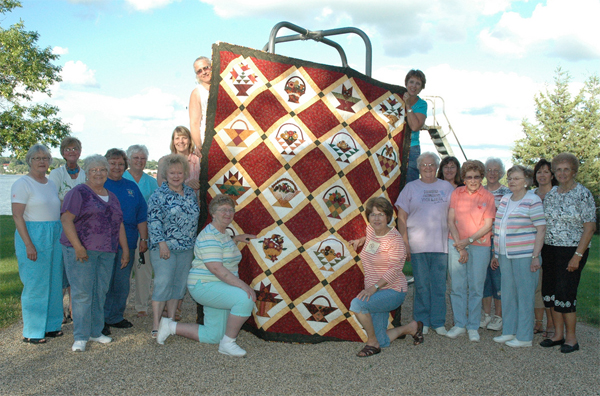 Hands Across the Lake quilt group Ortonville Minnesota