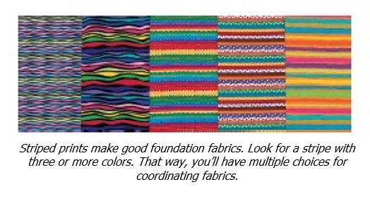 How to use striped fabrics - from Colorful Quilts