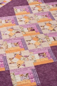 Purple quilt from Spotlight on Scraps