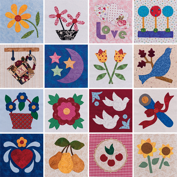 Quilt blocks from Easy Applique Blocks