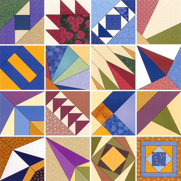 Quilt blocks from Quilt Block Bonanaza