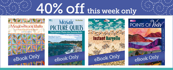 Save 40% on select titles--this week only!