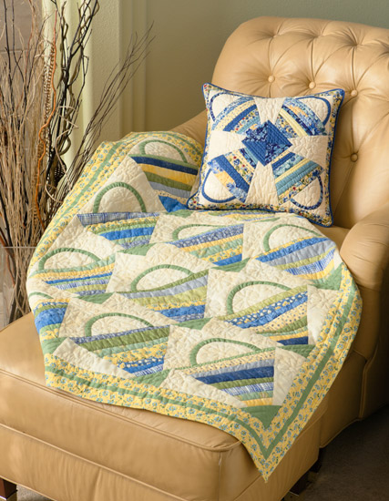 Spring Baskets quilt and pillow