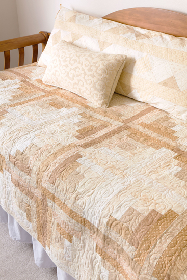 White Chocolate quilt from Spotlight on Neutrals