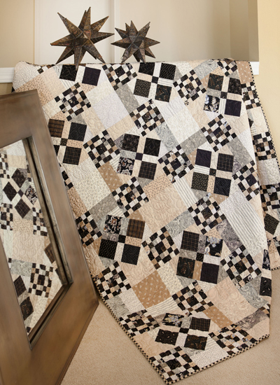 Scrappy Nines quilt from Spotlight on Neutrals