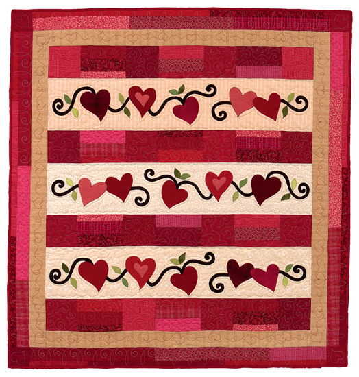 Be My Valentine wall quilt