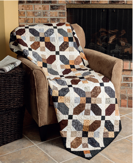 Road Trip quilt from Knockout Neutrals