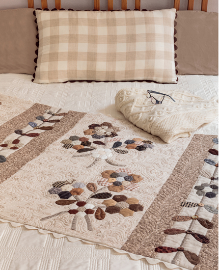 La Belle Fleur Bed Runner from Knockout Neutrals