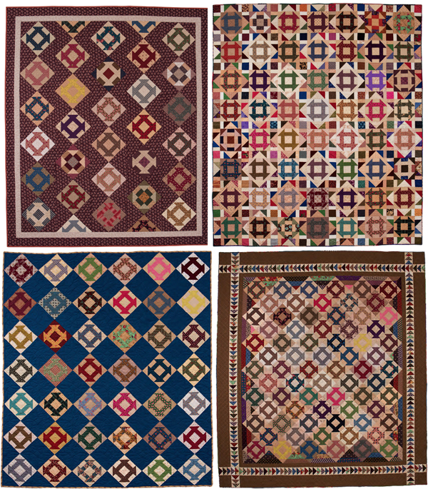 Churn Dash quilts