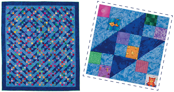 Flotsam and Jetsam quilt from Quilts from the Heart II