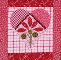 Applique heart from Tea in the Garden