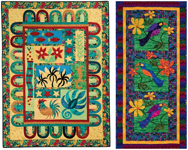 Applique quilts from Quilts from Paradise by Cynthia Tomaszewski