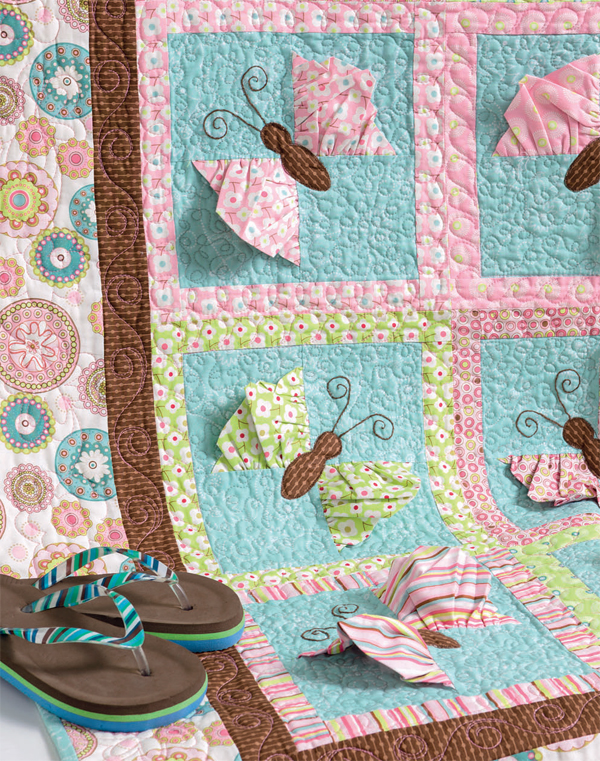 Butterfly Kisses quilt from Cute Quilts for Kids