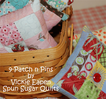 Nine Patch n Pins pincushion by Victoria Eapen