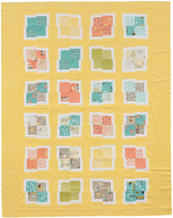 Karen's quilt from Modern Quilts from the Blogging Universe