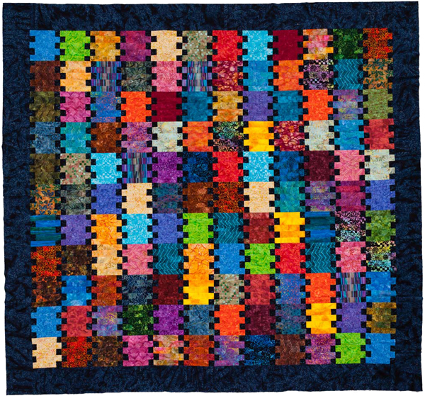 Linda's quilt from Quilting with Precuts and Shortcuts