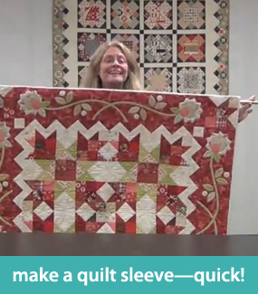 Make a quilt sleeve quick