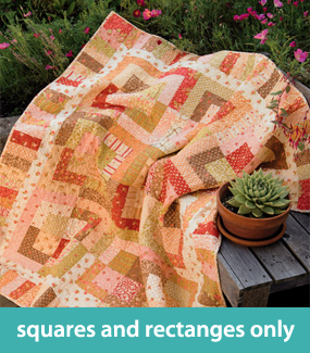 Quilts with squares and rectangles only
