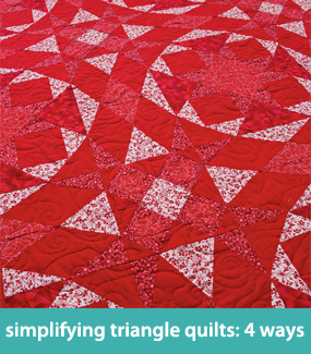 Simplifying triangle quilts--4 ways