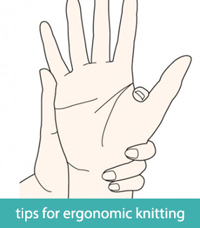 Tips for ergonomic knitting