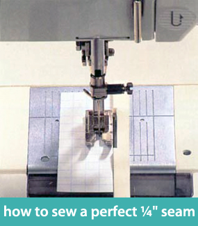 how to sew a perfect quarter inch seam