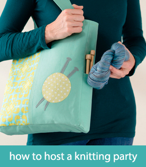 How to host a knitting party